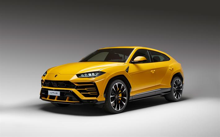 Descargar fondos de pantalla Lamborghini Urus, 4k, 2018 coches, Suv, autos italianos, Lamborghini