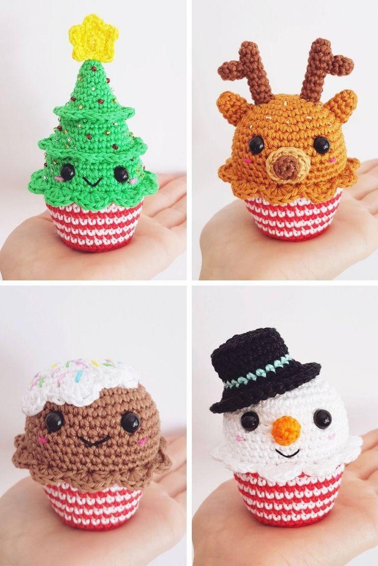 Häkeln Weihnachtsschmuck {Machen Sie einige süße Ornamente für Ihren Baum!}, #Baum #crochetch... #crochetgifts