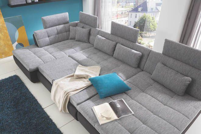 Megapol Loungesofa Big grau - Möbel Mit www.moebelmit.de ...