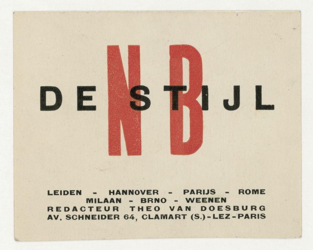 Business card of Theo van Doesburg | Ihr Museum für moderne und ...