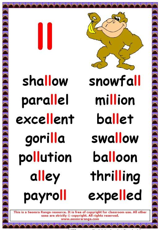Lists Short Vowel Z Word