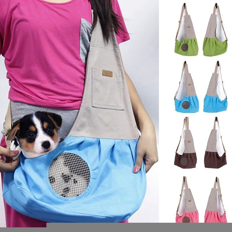 Details about Pet Travel Carrier Breathable Canvas Sling Bag Puppy ...