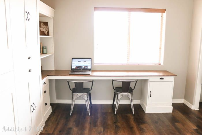 diy wall bed with desk. DIY Modern Farmhouse Murphy Bed - How To Build The Desk (Free Plans Diy Wall With U