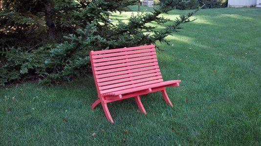 Custom Made Love Seat Bench