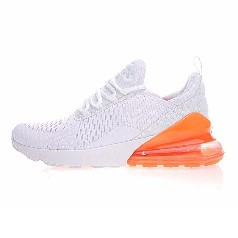 Authentic Nike Air Max 270 White Orange Pink Orange Fashion