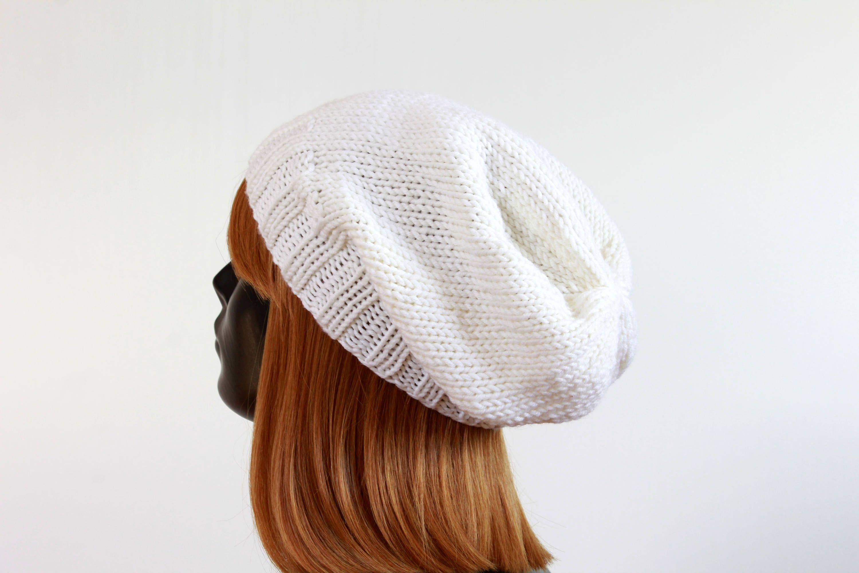 da210e99bc2 Excited to share the latest addition to my  etsy shop  White slouchy beanie  hat