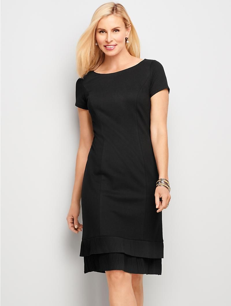 Ponte & Crepe A Line Dress | Talbots SB Aug 2017 | Clothes