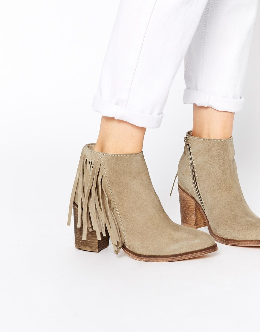 Image 1 of ASOS RILEY Suede Fringe Ankle Boots   Fashion & Style ...