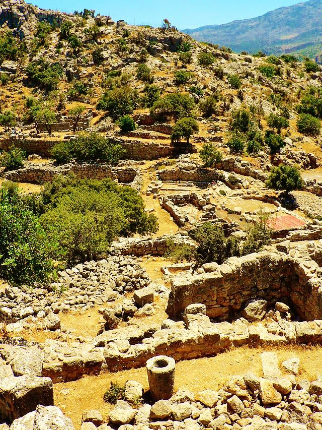 The archaeological site of Lato in Lasithi prefecture,Crete.