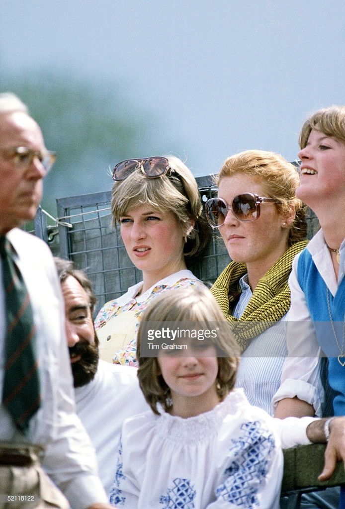 Sarah Ferguson And Lady Diana Spencer Watching Polo At