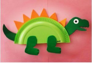 Dinosaur craft idea for kids | Crafts and Worksheets for Preschool,Toddler and Kindergarten #dinosaurart
