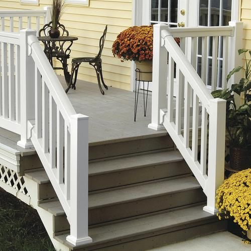 Best Fypon® Quickrail® Premium 42 X 72 White Stair Rail Kit 400 x 300
