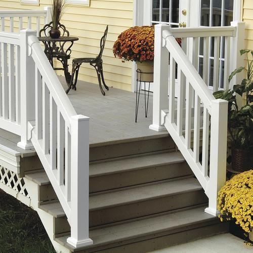 Best Fypon® Quickrail® Premium 42 X 72 White Stair Rail Kit 640 x 480