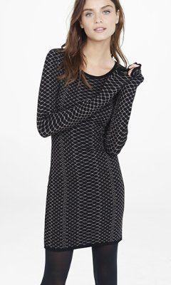 bb0e1abddb0 metallic snakeskin jacquard sweater dress from EXPRESS