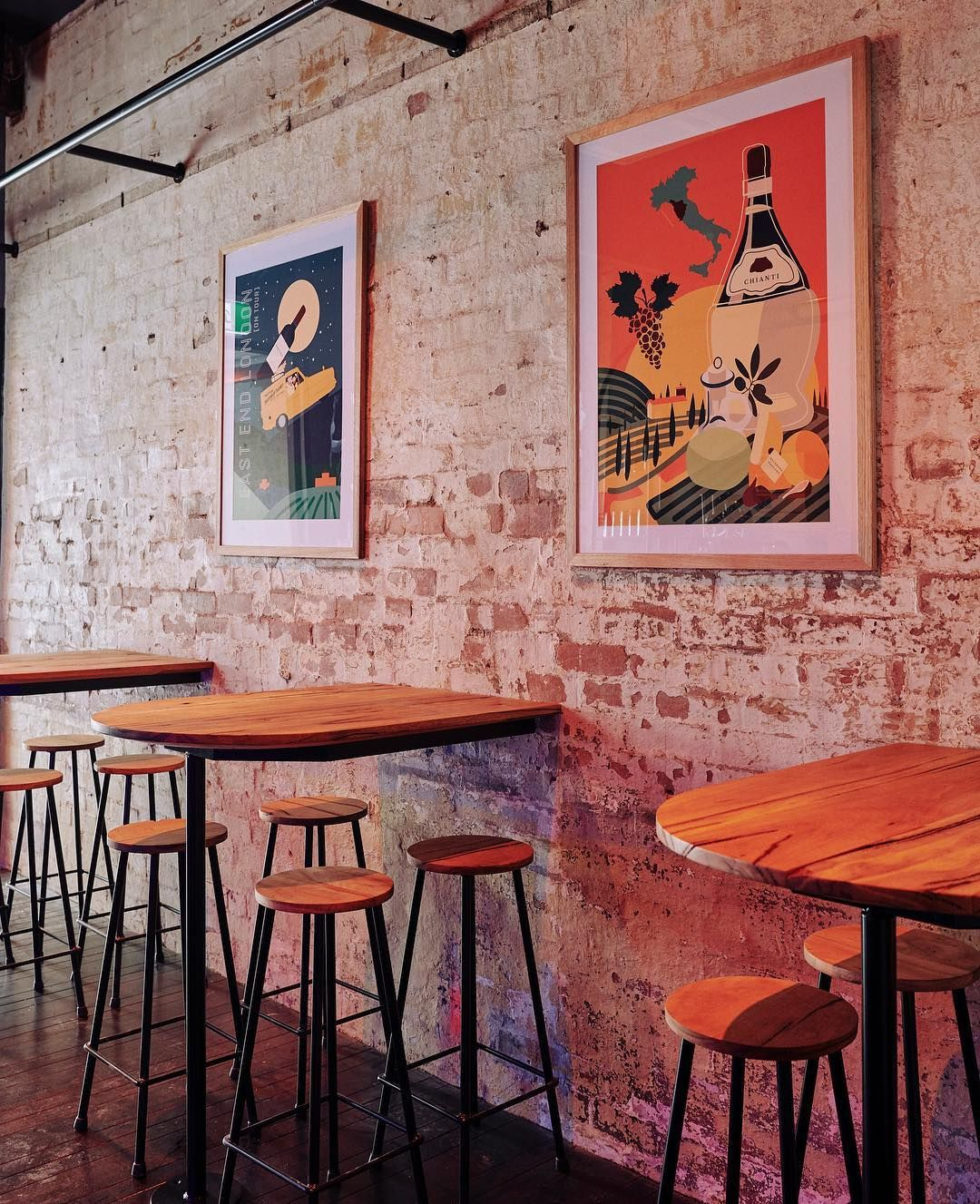 East End Wine Bar On Instagram Exposed Brick Walls And Artwork By Studiomimimoon Eastend Exposed Brick Walls Exposed Brick Brick Wall