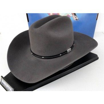 abb74a9eb0a Resistol Cowboy Hat 4X Beaver Fur Felt Granite Gray Eagle George Strait