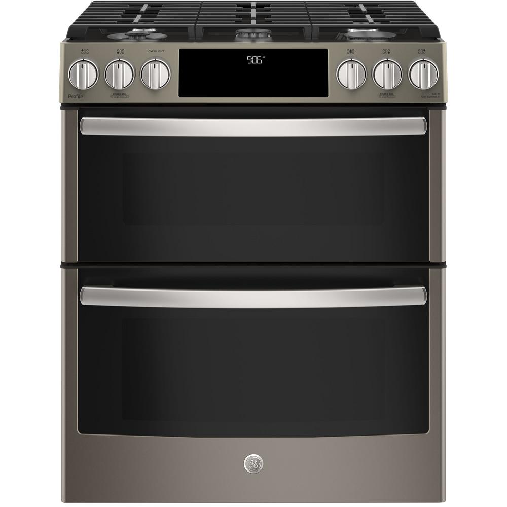 Ge Profile 6 7 Cu Ft Slide In Smart Double Oven Gas Range