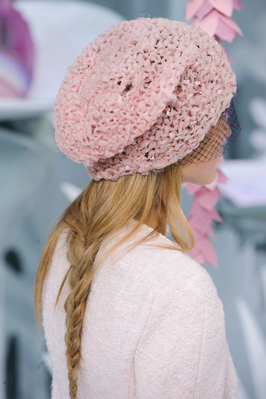 I didn't find time to post all of the Spring 2015 photos I saved but that doesn't mean I won't find something like this hat from the Chanel Haute Couture show - sans the veil, that is.