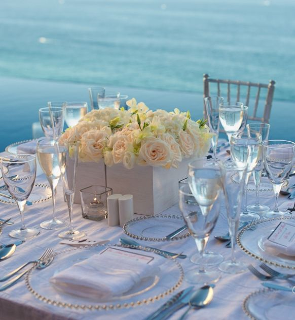 Find This Pin And More On WHITE WEDDING DREAM By Zoebugg1. Beach Wedding  Reception Decorations ...