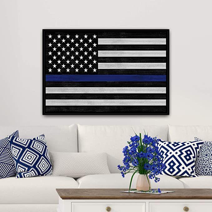 Thin Blue Line Flag Sign