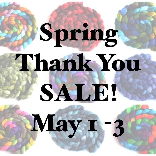 This is the LAST DAY of our Spring Thank You Sale! Use coupon code SPRINGSALE2020 to receive 15% off of your order! There are still a lot of goodies in the shop; take a look! Threewatersfarm.etsy.com   #etsysale #threewatersfarm #woolroving #combed top #iloveyarn #woollove #yarnspinnersofig #instayarnspinners #yarnlove #ilovewool #wemakeyarn #handspun #handspunyarn #handspunstagram #yarnspinnersofinstagram #yarnspinners #threewatersfarmfiber