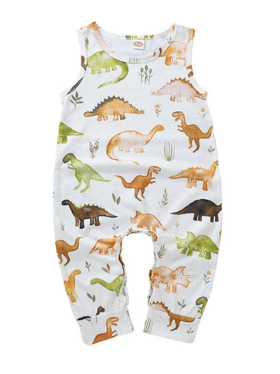 Baby Jumpsuit Dinosaur Boys Boutique Pajamas Xmas Gifts Girls Romper