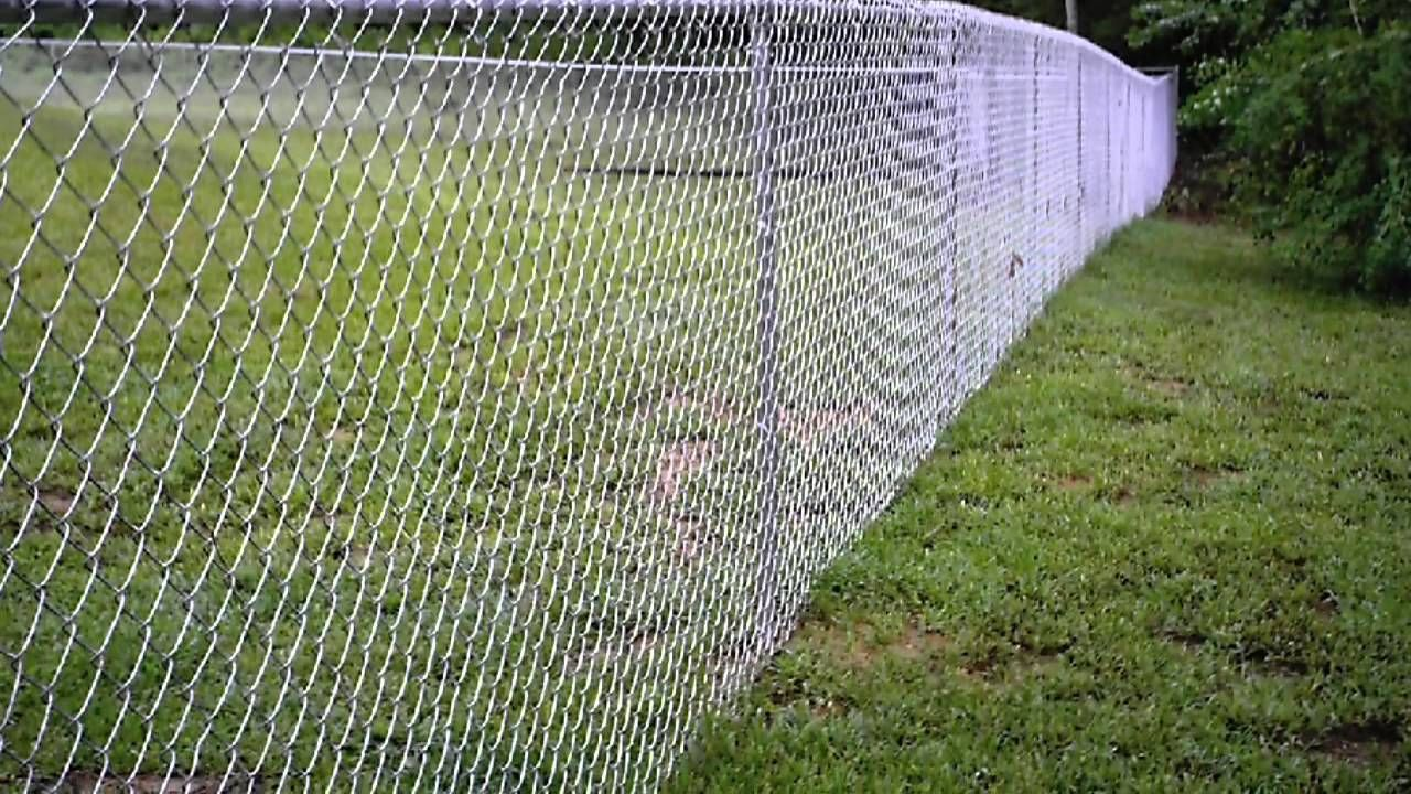 How To Make Chain Link Fence Look Good Youtube Chain Link Fence Painted Chain Link Fence Chain Link
