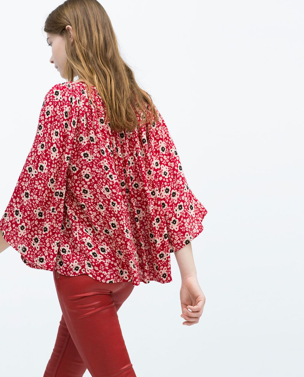 Image 4 of FLORAL PRINT TOP from Zara
