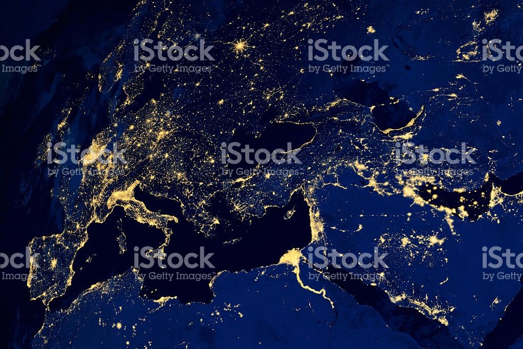 Satellite map of european cities night nasa image modified city satellite map of european cities night royalty free stock photo gumiabroncs Gallery