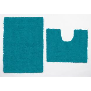 buy colourmatch bath pedestal mat set lagoon at argos. Black Bedroom Furniture Sets. Home Design Ideas