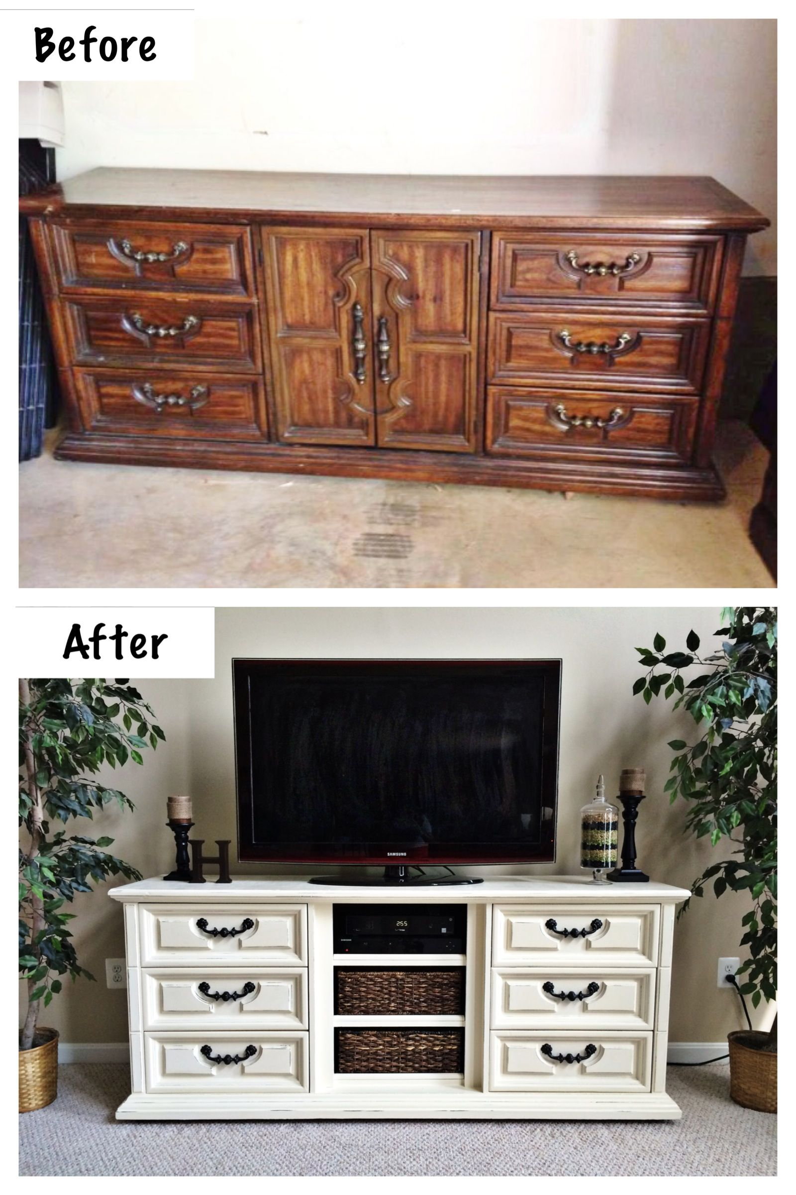 Dresser to Entertainment Center. Extra long dresser ...