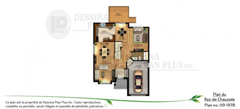 Dessina Plan  09-1978 Plan de maison - Cottage Pinterest