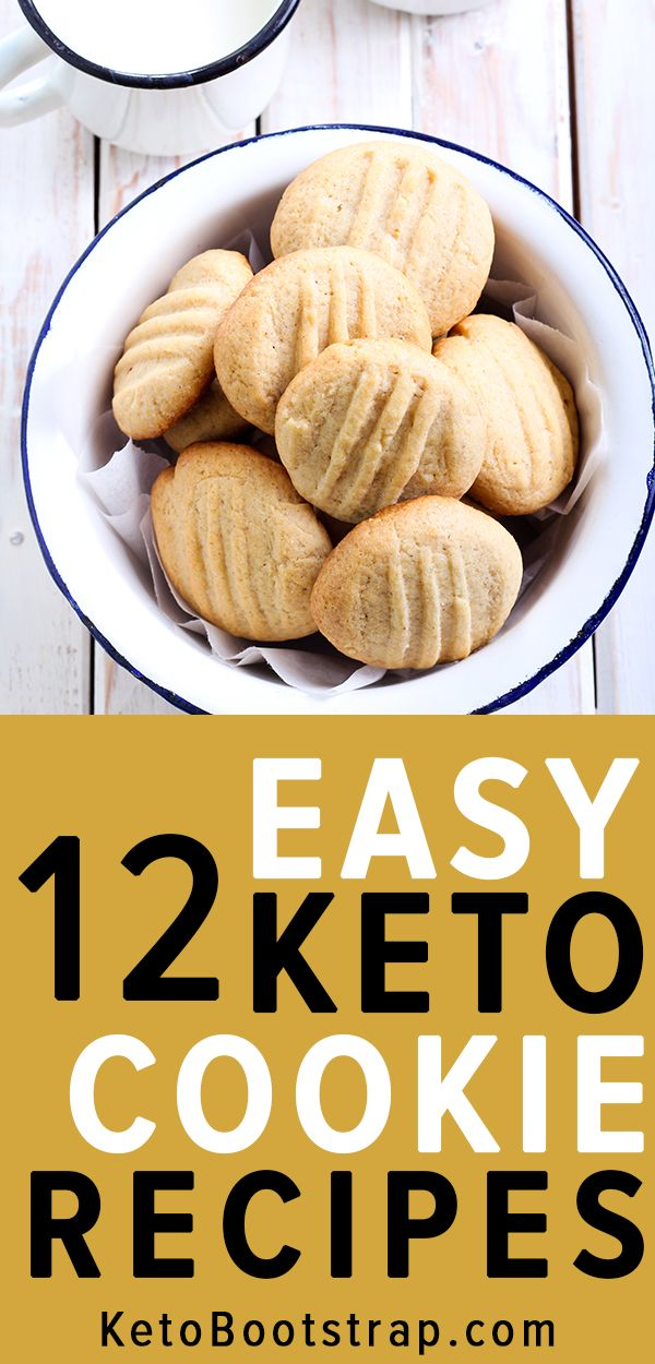 Keto Cookie Recipes: 12 of the Best Keto Cookie Recipes for Ketosis #ketocookierecipes