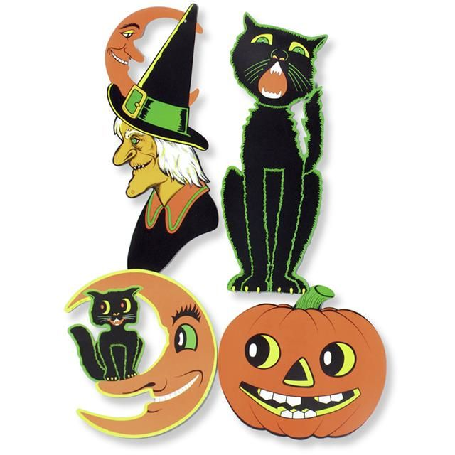 retro vintage halloween cutouts by beistle 60s and 70s reproductions i think everyone has - Beistle Halloween Decorations