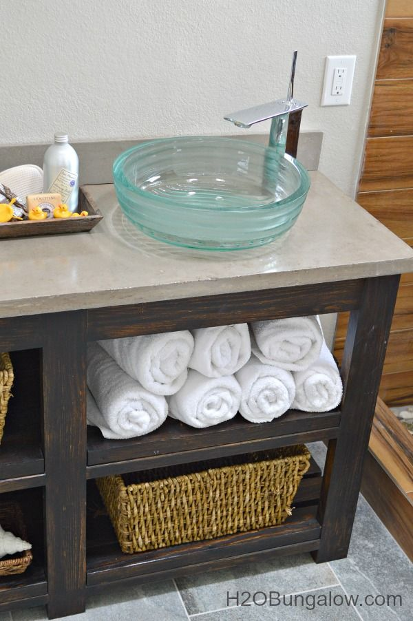 Custom Bathroom Vanities Plans diy open shelf vanity with free plans | open shelves, vanities and