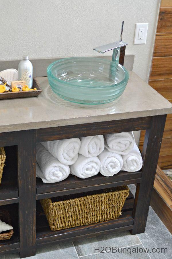 DIY Open Shelf Vanity  Hometalk  Funky Junk present