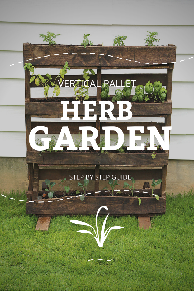 How To Make A Vertical Planter Part - 34: Learn How To Make Your Own Vertical Pallet Herb Garden.