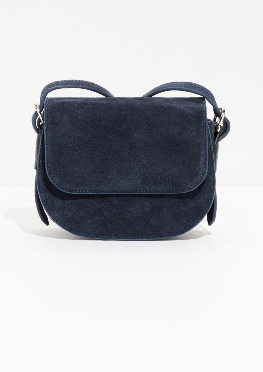 Other Stories Image 1 Of Suede Crossover Bag In Blue
