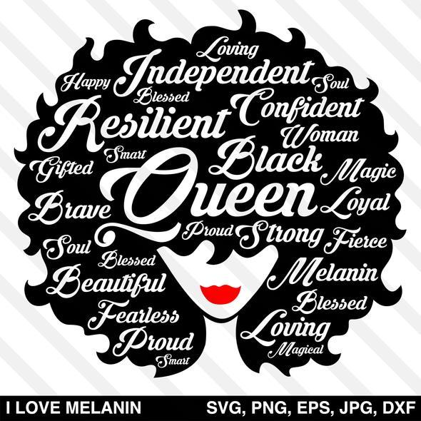 Black Queen Afro Woman Svg Afro Women Black Love Art Black Girl Magic Art