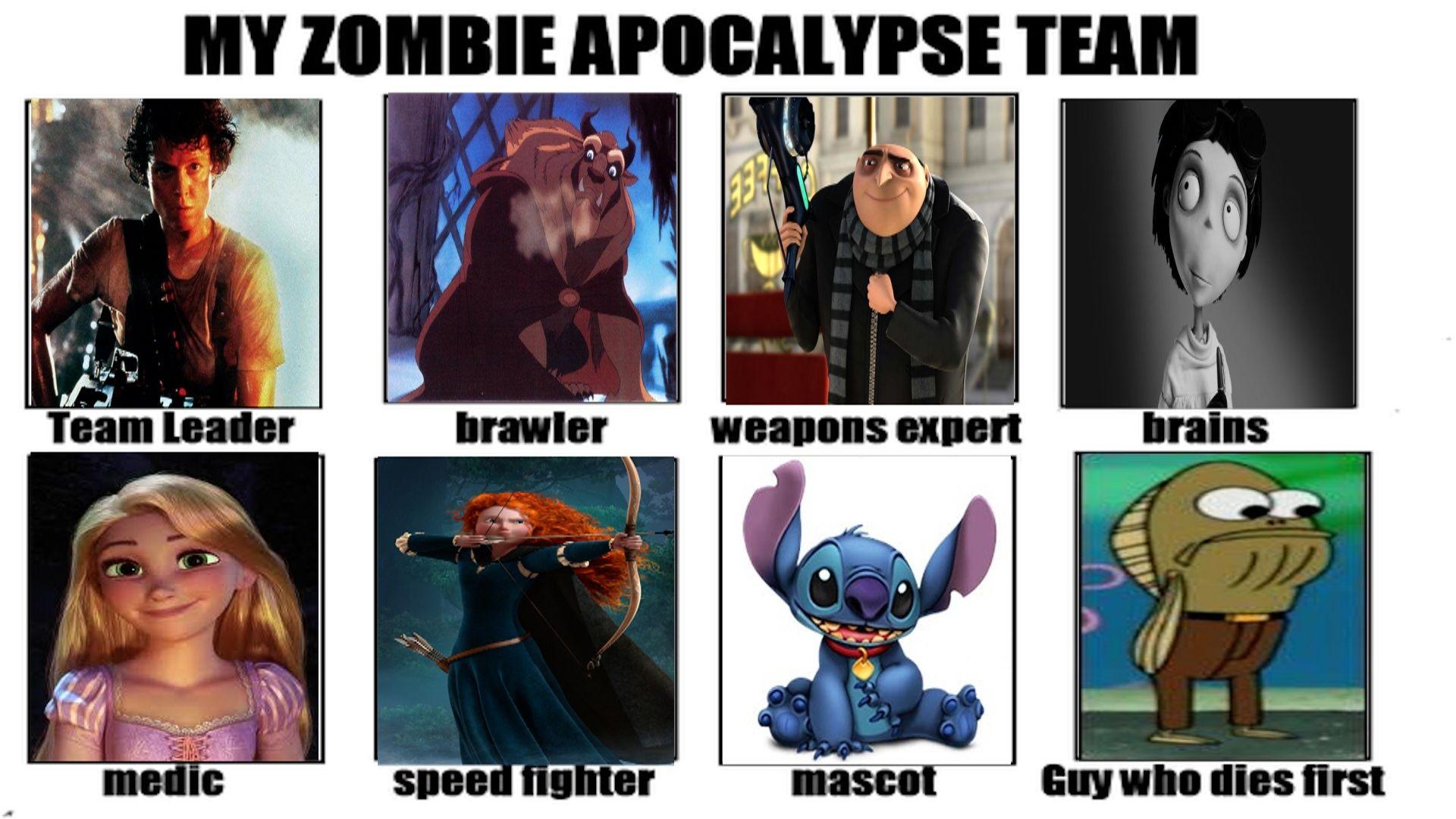 My Zombie Apocalypse Team Meme Zombie Apocalypse Team Zombie Apocalypse Apocalypse