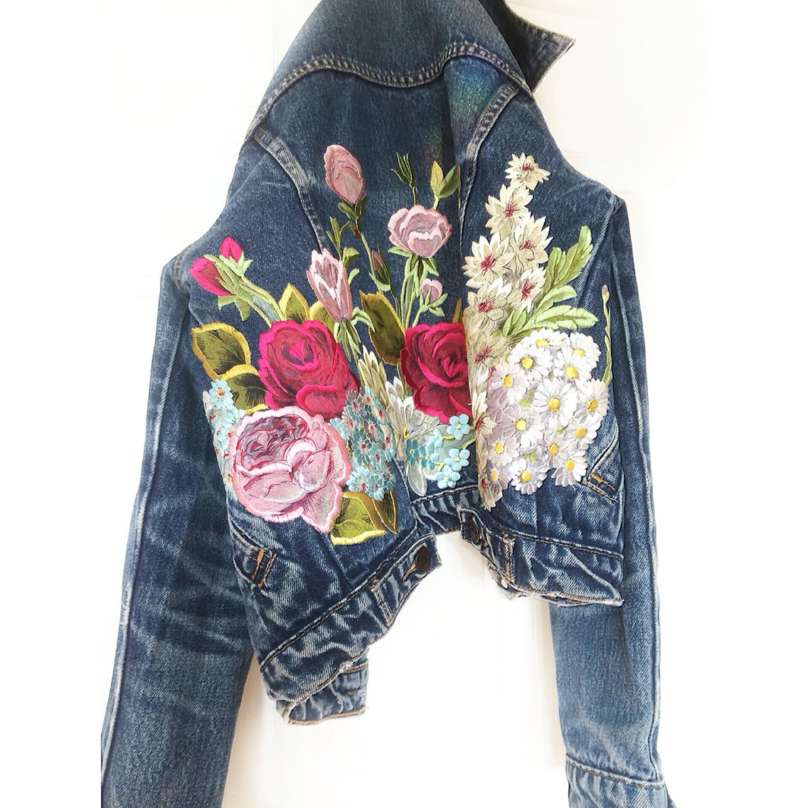Embroidered Levis Jacket Ellie Mac Embroidery