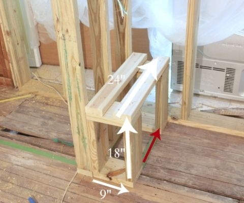 Framing A Shower Bench