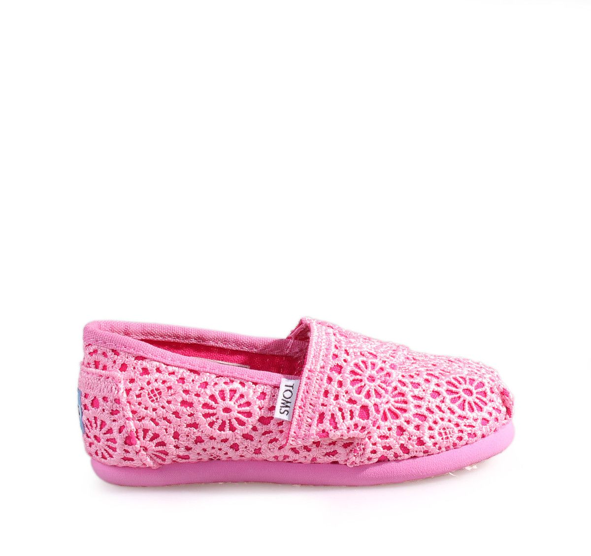 TOMS Pink Espadrilles for Girls. Παιδικές κοριτσίστικες ροζ εσπαντρίγιες. 005e8c414ad