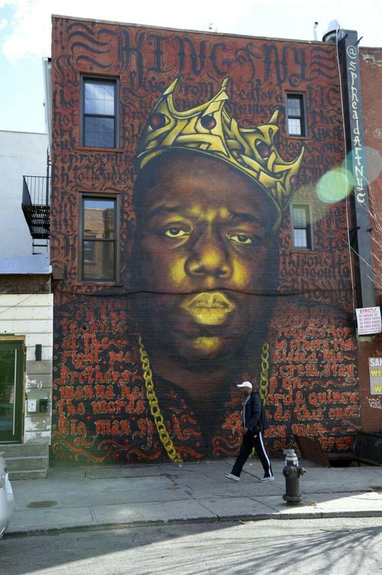 Biggie Small Notorious BIG Graffitti 36 x24 Biggie Street Art
