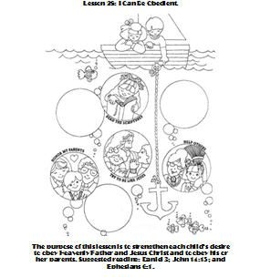 28 I Can Be Obedient Coloring Page Primary Books Coloring