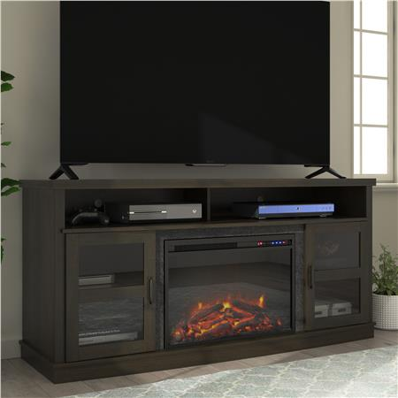 Ameriwood Furniture Ayden Park Fireplace Tv Stand For Tvs Up To 65 Espresso Fireplace Tv Stand Fireplace Tv Tv Stand