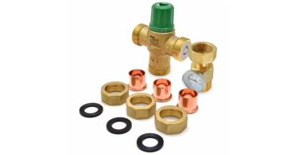 Taco 3 4 Union Sweat Mixing Valve W Temperature Gauge Lead Free 85f 175f Domestic Hot Water Hot Water Valve