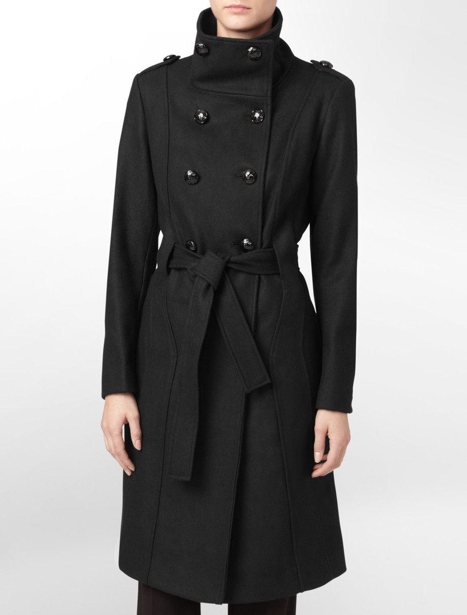 Calvin Klein Melton Coat Black Version Military Coat Calvin Klein