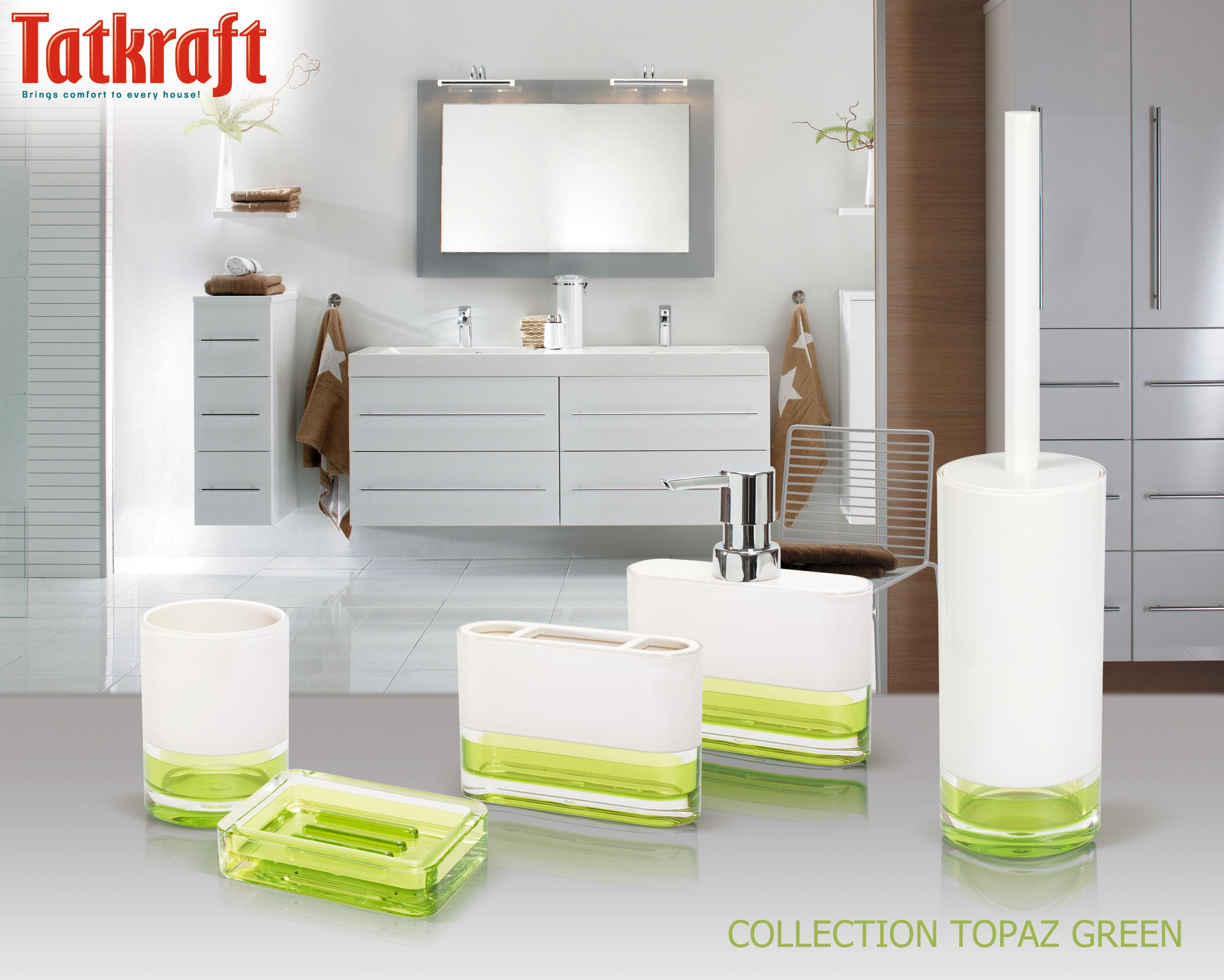 Collection Topaz Green from Tatkraft Acrylic Bathroom Accessories