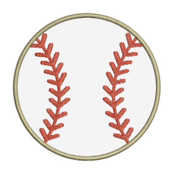 Baseball Applique II Machine Embroidery Designs 4x4 & 5x7